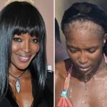 Наоми Кэмпбелл потеряла парик?