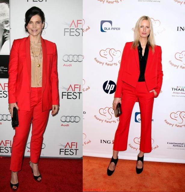 новый образ «lady in red»