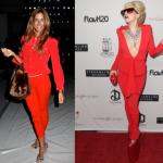 Звезды в красном костюме – новый образ «lady in red» ?