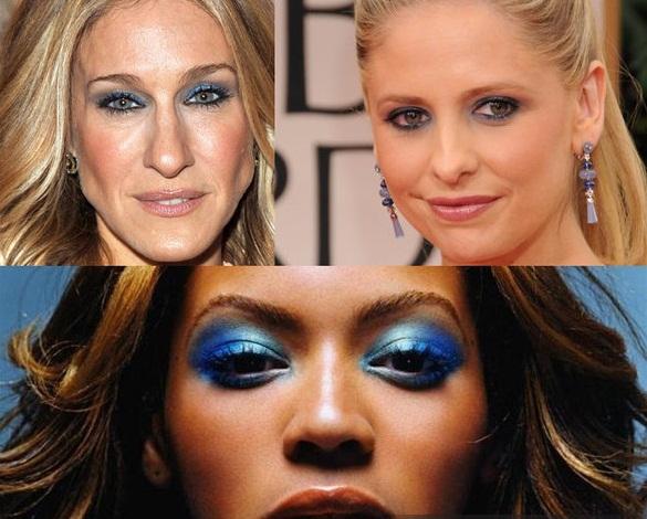 Мужчины ненавидят голубые тени на веках, как у Сары Джессики Паркер, Сары Мишель Геллар