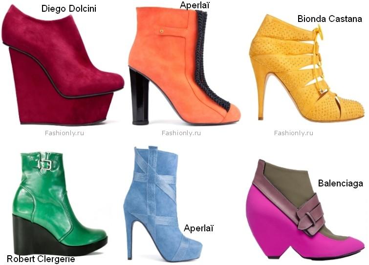 Для особенно ярких мероприятий обувные бренды подготовили немало насыщенных цветовых вариаций, для того чтобы встретить осень с праздничным настроением.