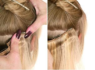 Как прицепить накладные волосы