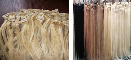 Искусственные пряди волос на заколках цена