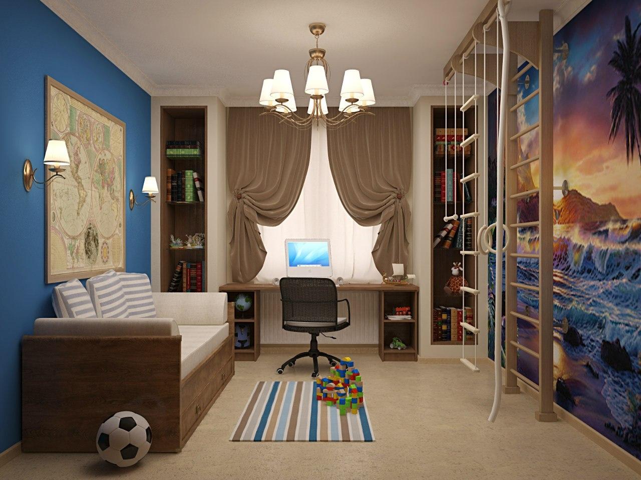 Оформление детской комнаты для мальчика