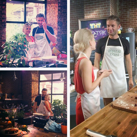 Недавно Ермакова и Левченко поучаствовали в съемках программы Открытая кухня