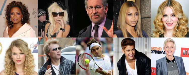 Уинфри, Бейонсе и Гага названы самыми влиятельными знаменитостями