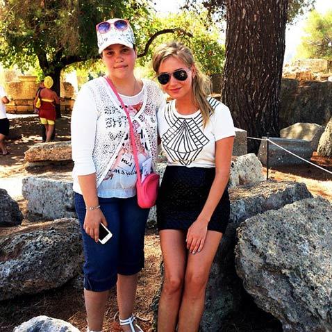 Асмус с сестрой Харламова Катей