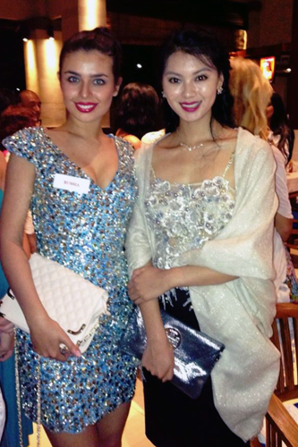 Эльмира Абдразакова и «Мисс Мира»-2012 Юй Вэнься