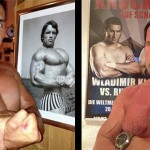 Битва титанов: Шварценеггер и Кличко меряются мускулами