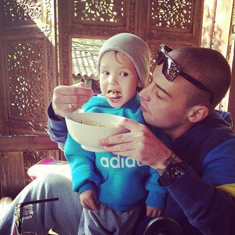 Гуф с сыном Сами