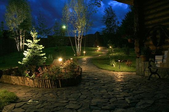 Выбор правильного освещения для сада