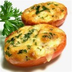 Помидоры с плавленным сыром