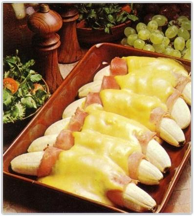Запеченные бананы с миндалём