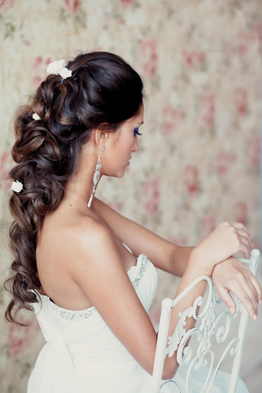 Как сделать прическу собранными волосами