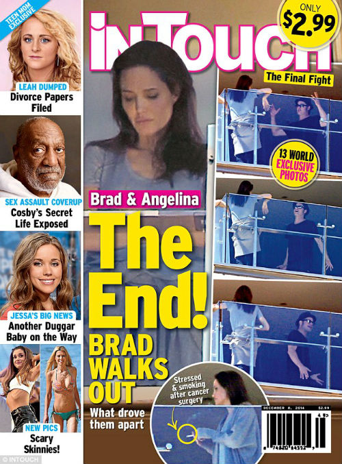 Анджелина Джоли поскандалила с Бредом Питтом на балконе
