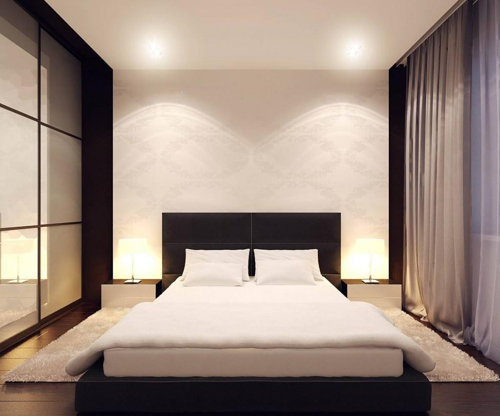 Обстановка спальной комнаты