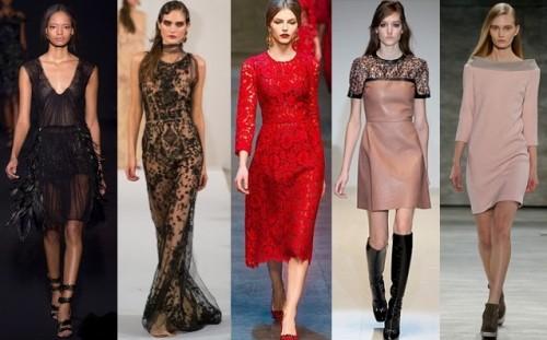 Модные платья осенне-зимнего сезона 2014-2015 года