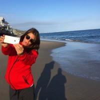 Беременная Кети Топурия активно проводит время в Америке