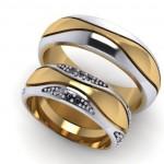 Двухсплавные обручальные кольца — двойная красота