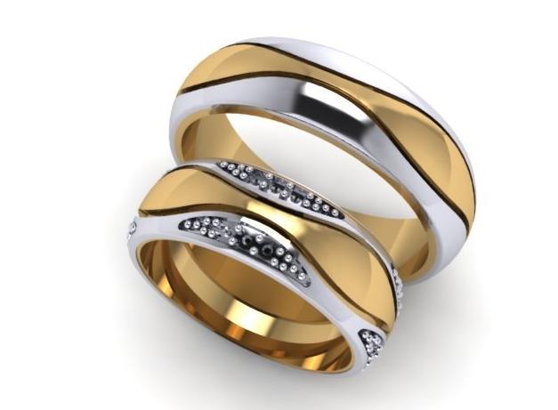 Двухсплавные обручальные кольца - двойная красота