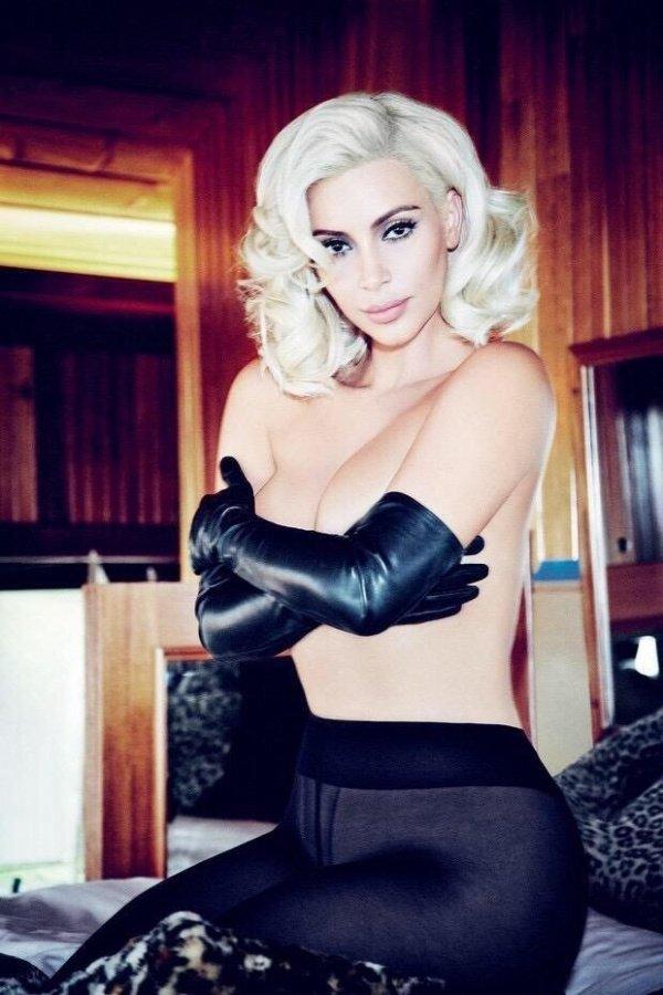 "Ким Кардашян в образе Мэрилин Монро на страницах ""Vogue"""