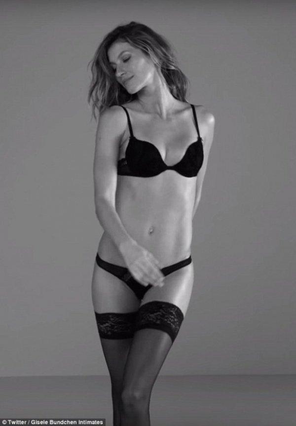 Жизель Бюндхен в рекламе собственной коллекции нижнего белья