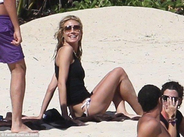Хайди Клум отметила 42-летие с возлюбленным на пляже