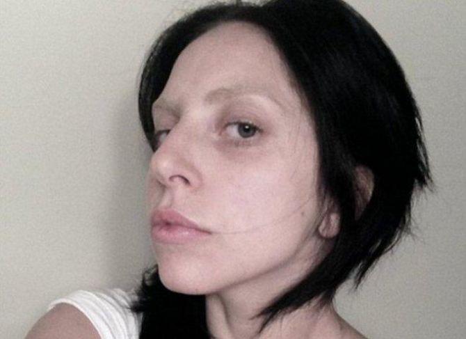 Леди гага фото без макияжа