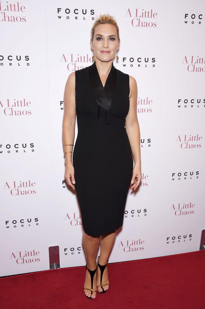 Похудевшая Кейт Уинслет посетила премьеру фильма Небольшой хаос