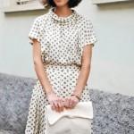 С чем носить платье в горошек? 11 фото