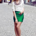 С чем носить зеленую юбку? 25 фото