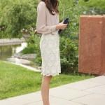 С чем носить белую юбку? 40 фото