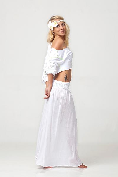 Блузка к длинной юбке