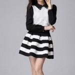 С чем носить черно-белую юбку? 17 фото