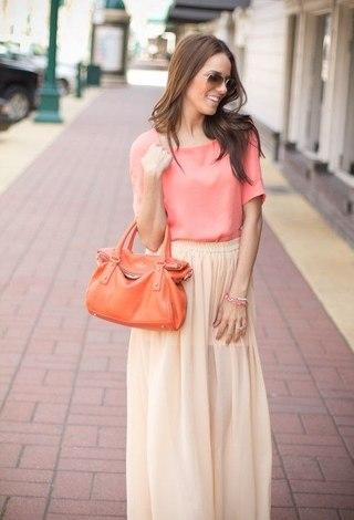 С чем носить длинную юбку летом?