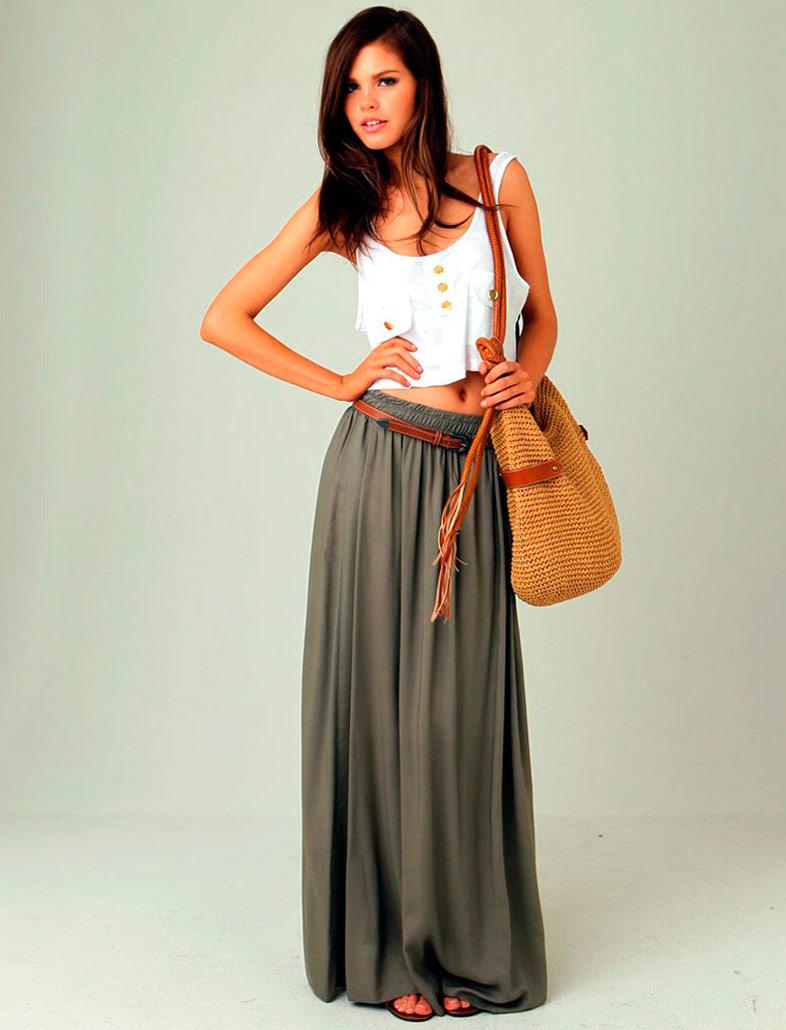 С чем носить длинную юбку? 61 фото - Журнал Jette