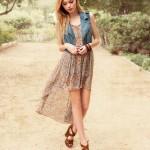 С чем носить шифоновое платье? 10 фото