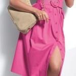 С чем носить платья сафари? 10 фото