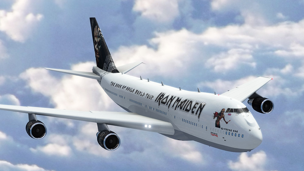 Брюс Дикинсон стал пилотом Боинга 747 для нового тура Iron Maiden