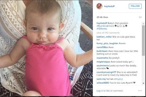 Хейли Дафф показала первую фотографию ребенка1
