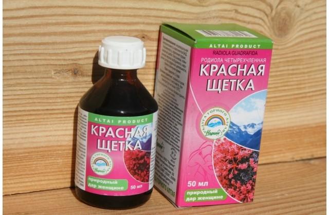Как пить настойку красной щетки, применение, лечение