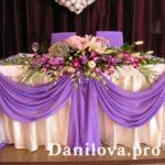 Варианты для украшения свадебного стола.