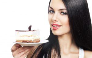 girl-brunette-piece-cake-dish-white-background-1280x800
