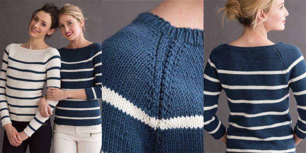 С чем носить женский полосатый свитер