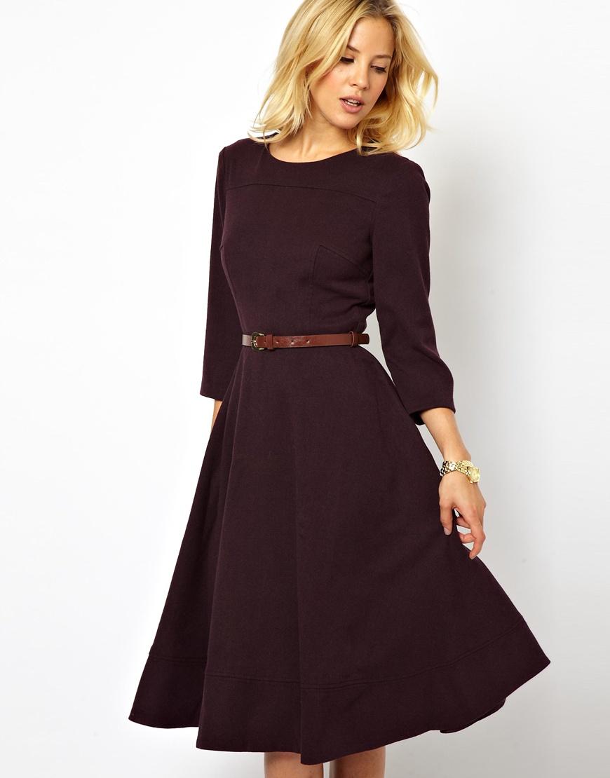 Сшить платье до колен фото