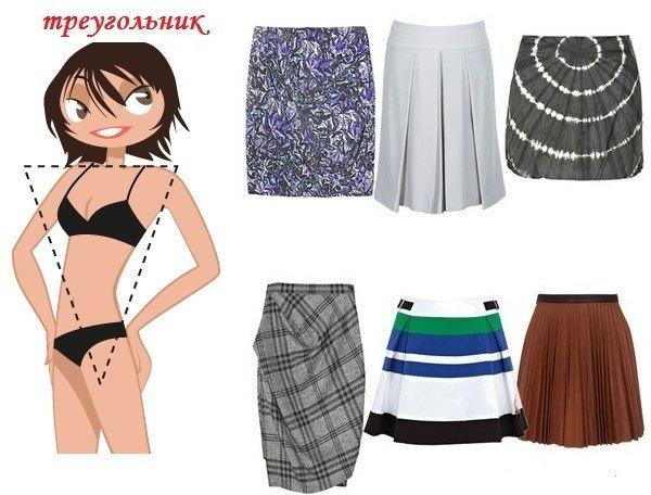 Корректировать необходимо и заднее и переднее полотнища юбки
