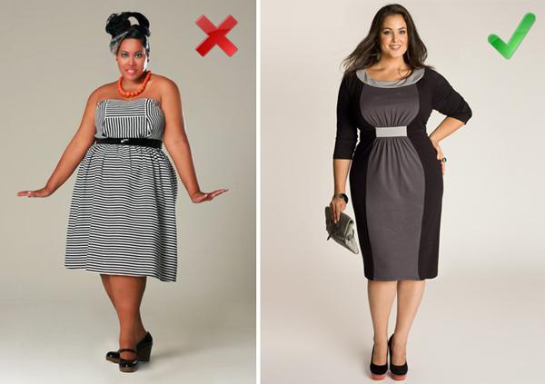 Как подобрать одежду для дамы с пышной фигурой