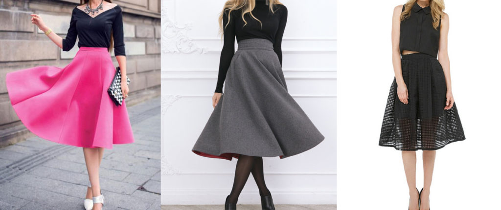 Одеваемся стильно – особенности юбок миди