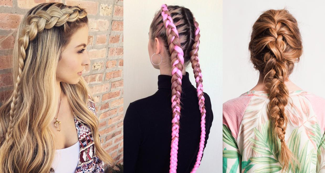 Модные прически 2017: красивое плетение косичек с фото