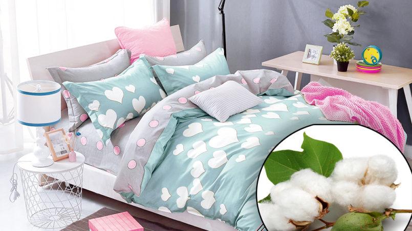 Комплекты постельного белья из хлопка
